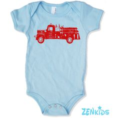 Baby One-Piece Vintage FIRE TRUCK