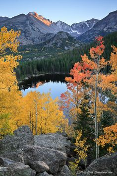 Fall Bear Lake, Rocky Mountain National Park, Colorado, United States. #WesternUnion