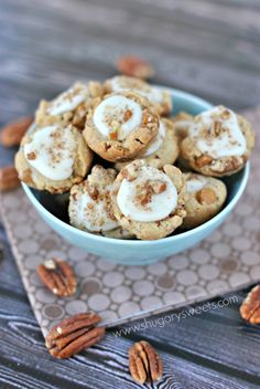 Butterscotch Pecan Sandies cookie cups