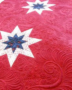 Lone Star Quilt, quilted by Judi Madsen ~ Green Fairy Quilts 2009