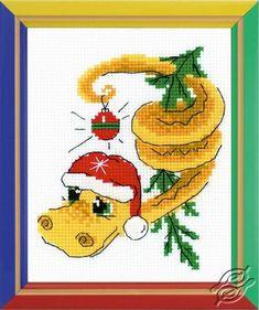 New Year's Serpent Dragon - Cross Stitch Kits by RIOLIS - HB-126
