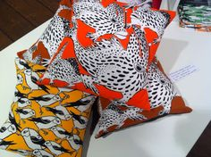 Cheeky Spotted Handfish cushion design based on the critically endangered Handfish from Hobarts Derwent estuary