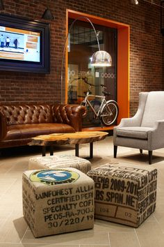 Commercial space masculine rustic interior design A.R.E. - Association for…