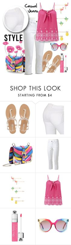 """Hot Pink"" by runners ❤ liked on Polyvore featuring Head Over Heels by Dune, J Brand, RED Valentino, Juicy Couture, Monsoon and MCM"