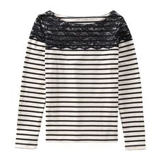 We've added lace to stripes for a feminine spin on this wardrobe staple.