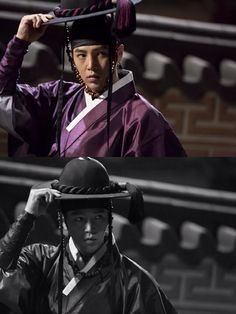 While everybody is going crazy over the Korean army uniformed guys, I instantly fall for this Joseon Royal Prince disguising in his Royal Guard uniform instead! The 1st time seeing JKS wearing this! #Daebak #Drama #SBS #Episode9 ❤️