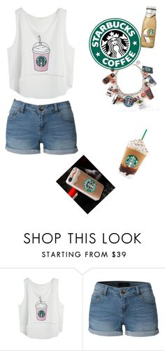 """""""starbucks inspired"""" by cheerleadershaye ❤ liked on Polyvore featuring LE3NO"""
