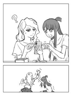 Hyanna Natsu, My Little Witch Academia, Little Witch Academy, Blue Anime, Cute Lesbian Couples, Fanart, Star Wars, Manga, Comics