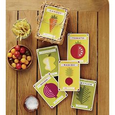 Set of 6 Seed Packet Plates with Crate in Mother's Day | Crate and Barrel