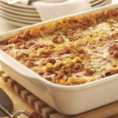 Simple Sausage Lasagna Recipe from Taste of Home