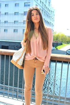 Soft Pink, Nudes and Gold Accessories   Negin Mirsalehi