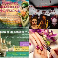 Haz de tu pasión tu profesión con nosotros! Matrícula abierta para el curso 2016/17  #maquillaje #estética #uñas #Caracterización #Formacion #Madrid #cursos