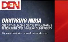 DENNetworks is India's leading top digital cable TV service provider company that offer den digital, den cable, digital cable TV , cable TV services, den set top box. Digital Cable Tv, Digital Tv, Tv Services, Web Magazine, Den, India, Detail, Goa India, Indie