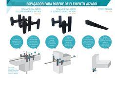 1. Espaçadores para Elemento Vazado - Elemento vazado - La-J Lucas Artefatos