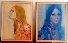Think Amber & Think Indigo Kitsh pleasure prints by Michael Johnson 1968