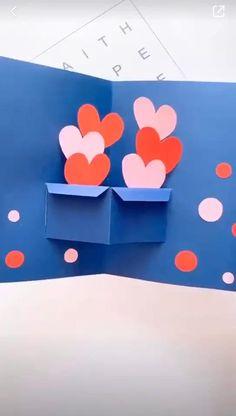 Cool Paper Crafts, Paper Crafts Origami, Diy Crafts For Gifts, Crafts For Kids, Diy Paper, Card Crafts, Diy Origami Cards, Craft Cards, Cardboard Crafts
