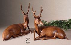 Buck Statues set of 2