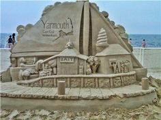 Sand castle on Bass River in Yarmouth