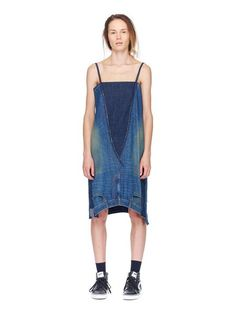 6397. 2 Jeans Dress in Denim Patchwork
