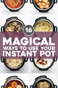 16 Magical Ways to Use Your Instant Pot! From soups, to yogurt, to snacks, to drinks: it does it all! One of our favorite all-purpose kitchen gadgets. Instant Pot Pressure Cooker, Pressure Cooker Recipes, Pressure Cooking, Pressure Fryer, Instant Cooker, Crockpot Recipes, Cooking Recipes, Healthy Recipes, Cooking Blogs