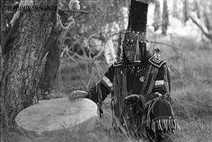"""Adyg Eeren (Spirit of Bear) shamanic society in Tuva, Siberia, Russia. Nikon…"