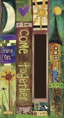 Cool 47 Wonderful Colorful Peace Poles Design Ideas For Your Garden. Peace Pole, Garden Poles, Fence Art, Fence Slats, Fencing, Pole Art, Garden Signs, Yard Art, Art Boards