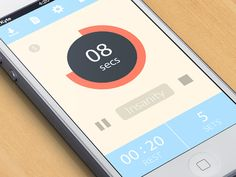 Dribbble - Interval Timer App by Jon Kyte