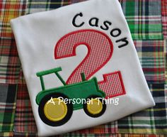 Boys Tractor Birthday Shirt by APersonalThing on Etsy, $16.00
