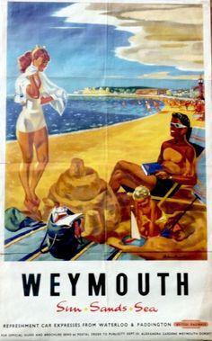 Weymouth British Railways poster 1950s