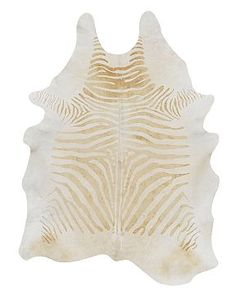 WILLIAMS SONOMA HOME - Pony Hair Zebra Hide Rug. Featured in D Pages October 2011 favorites.