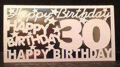 30th Birthday Greeting Card #SandraCraftyCardz #BirthdayAdult