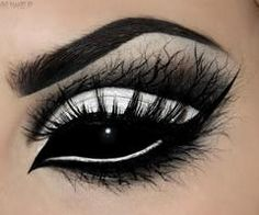Blackout contacts and some creepy branch eye make-up for the epitome of a #Goth look