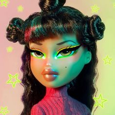 "Visit our site for more information on ""bratz dolls"". It is actually a superb area to read more. Bratz Doll Makeup, Bratz Doll Outfits, Coraline, Black Bratz Doll, Bratz Girls, Brat Doll, Creepy, Eye Makeup, Cartoon Profile Pictures"