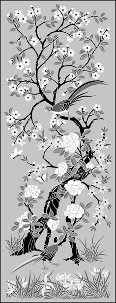 The Stencil Library - large selection of Chinoiserie panel stencils.
