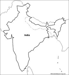 Map of india worksheets india and social studies printable blank map of ancient india google search gumiabroncs Gallery