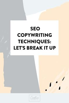 DIY SEO copywriting tips that will help get your site found online!  Don't forget to grab your freebie SEO checklist!