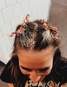 Wispy Carmel Hair with White Bow Two Loose Goddess Braids Dyed White Two Loose Goddess Braids with B Summer Hairstyles, Messy Hairstyles, Pretty Hairstyles, Hair Inspo, Hair Inspiration, Festival Hair, Glitter Hair, Pinterest Hair, Good Hair Day