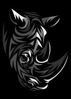 Tribal rhino - neatoshop we love animals in 2019 узоры, тату Tribal Animal Tattoos, Tribal Logo, Tribal Drawings, Tribal Animals, Cat Posters, Animal Posters, Rhino Tattoo, Rhino Art, Wild Animals Pictures