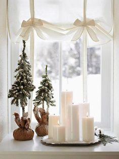 Ideias de decoração de natal em espaços pequenos. Confira no link esta e mais imagens! (Foto: Pinterest) #natal #christmas #decor #decoração #decoration #decoración #casavogue
