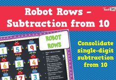 Robot Rows - Subtraction from 10