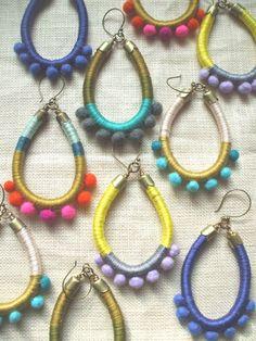 Design Your Own AVIVA EarringsCotton Floss by NestoftheBluebird, $34.00