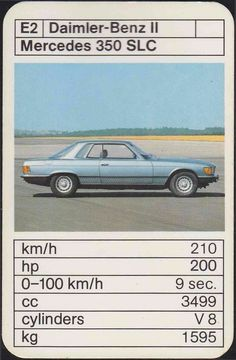 Mercedes 350, Top Trumps, Good Old Times, Hot Wheels, Super Cars, Graphic Art, Classic Cars, Automobile, Youth