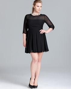 JAIME Sheer Shell Pleated Dress | Bloomingdale's