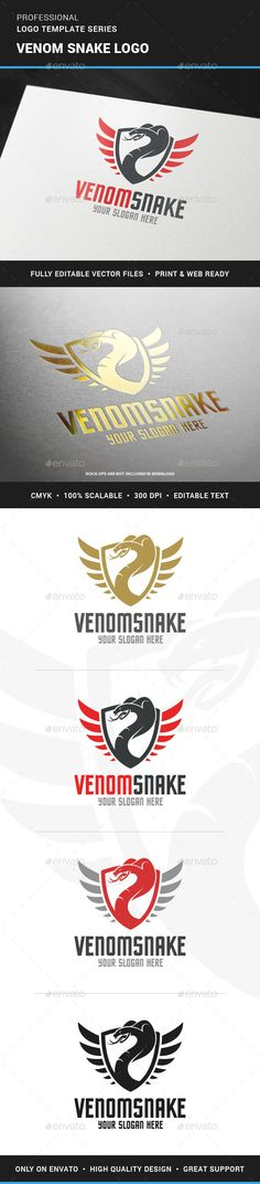Venom Snake Logo Template — Vector EPS #fight #club • Available here → https://graphicriver.net/item/venom-snake-logo-template/12067240?ref=pxcr