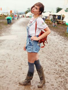 Carrie in wellies