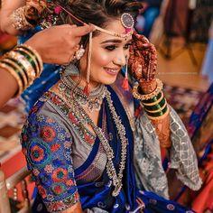 Marathi Saree, Marathi Bride, Marathi Wedding, Saree Wedding, Maharashtrian Saree, Bengali Bride, Desi Wedding, Wedding Pics, Wedding Ideas