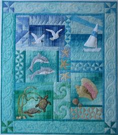 Ocean Quilt Patterns - This Cozy Ocean Quilt Patterns Innovation design was uplo. - Ocean Quilt Patterns – This Cozy Ocean Quilt Patterns Innovation design was upload on April, 23 2 - Quilt Baby, Colchas Quilt, Ocean Quilt, Beach Quilt, Hanging Quilts, Quilted Wall Hangings, Beginner Quilt Patterns, Quilt Patterns Free, Block Patterns