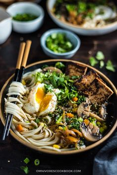 Chinese Vegetarian Noodle Soup (中式素汤面) | Vegan Adaptable