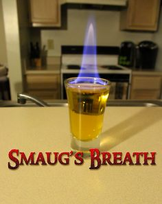Smaug's Breath (The Hobbit shot) I am SO doing this at the next party.