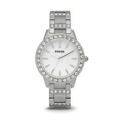 """Glitzersteine an Band und Gehäuse, das Markenzeichen der Fossil Damen-Uhr """"Jesse"""", Modell Nr. ES2362 bietet gute Möglichkeiten, die Uhr mit einer Gravur zu individualisieren. Für ein unvergessliches Geschenk."""
